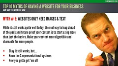 Myth 05: Websites Only Need Images & Text - Top 10 Myths Business Website - Sidewages