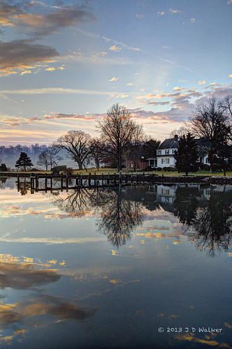 blue sky sunrise southriver hdrprocessed houseonwater sunrisesunset2013 annapolis2013