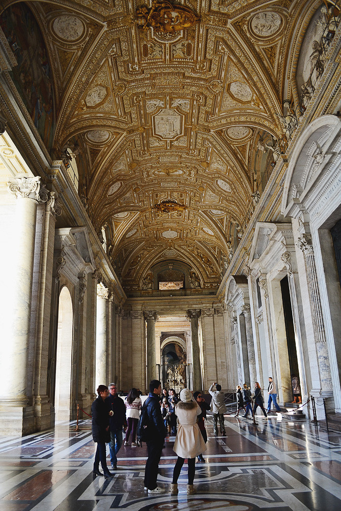 Entering St.Peter's Basilica, Vatican City, Italy