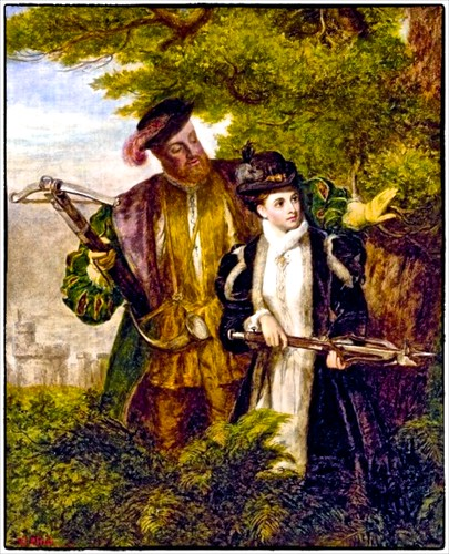 KIng Henry VIII and Anne Boleyn go hunting