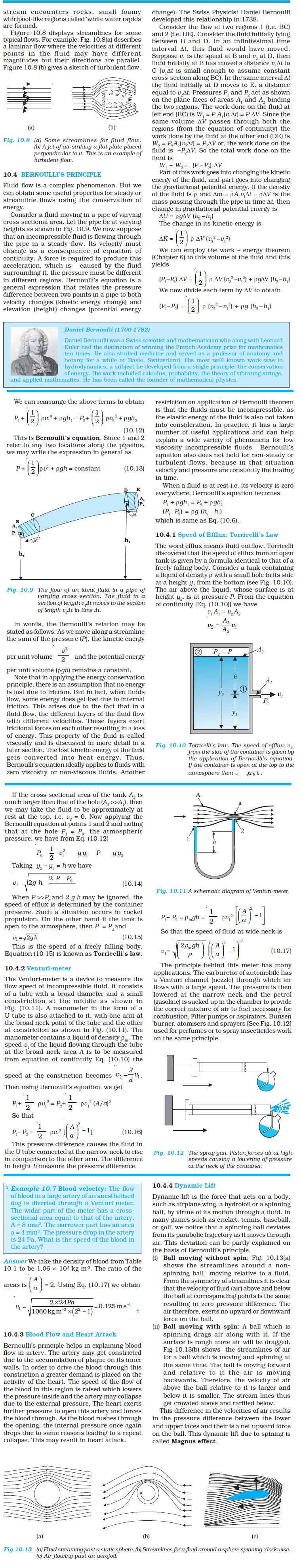 NCERT Class XI Physics Chapter 10 – Mechanical Properties of Fluids