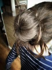 black hair(0.0), hairstyle(1.0), chignon(1.0), bun(1.0), hair(1.0), long hair(1.0), brown hair(1.0), blond(1.0), hair coloring(1.0),