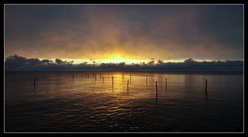 sunset sea sky sun nature silhouette dark denmark nikon darkness dusk danmark nikond5000 blinkagain