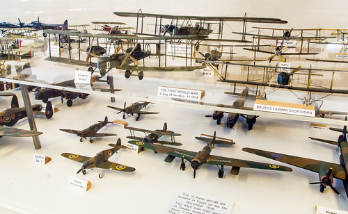 Some of the model aircraft in The FAST  aerospace museum in Farnborough, Hampshire