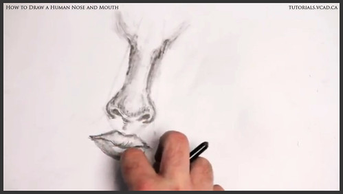 learn how to draw a human nose and mouth 013