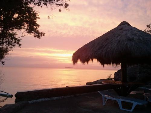 sunset sea philippines sampaguita moalboal