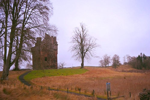 Greenknowe Tower in the Scottish Borders