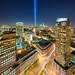 9/11 Tribute in Light Panorama #1 by RBudhu