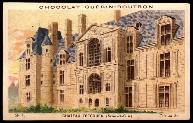 French Tradecard - Chateau D'Ecouen