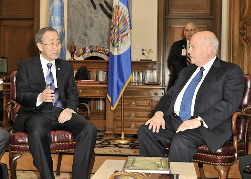 Secretaries General of the OAS and the UN Discuss Political Context in Latin America and the Caribbean
