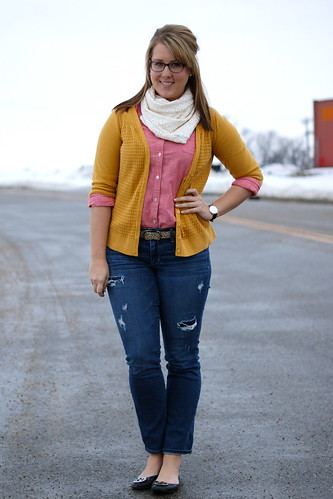 mustard, pinks, lace