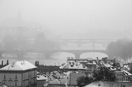 Prague bridges by Zdenek Papes