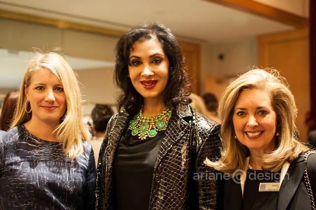 2013 FWE Gala: Alexis Maybank, Emcee Monika Deol, Pamela Martin