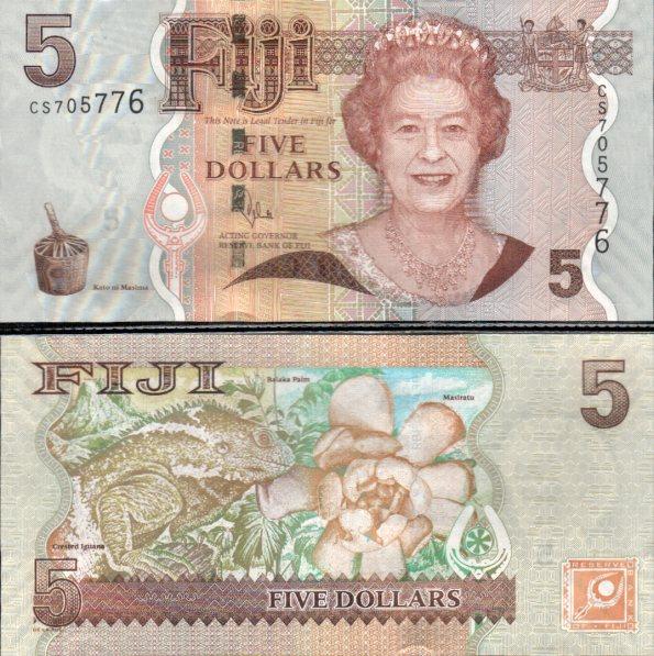 5 Dolárov Fidži 2012, nový podpis