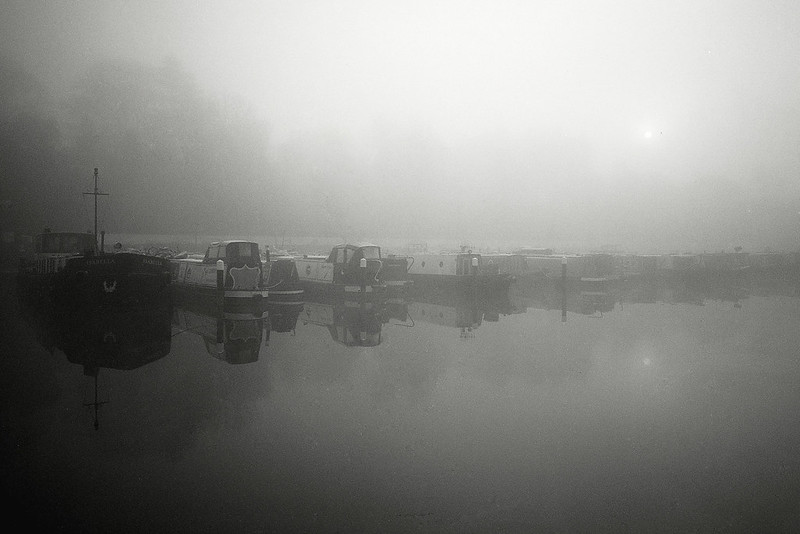 Diglis basin in the fog