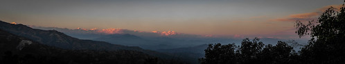 View of the Himalayas from Dhulikhel, Nepal
