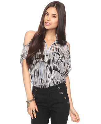 Abstract woven top 24.80usd x 1.36