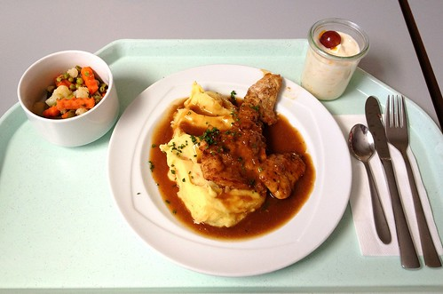 Putensteak in Honig-Pfeffer-Sauce / Turkey steak in honey pepper sauce