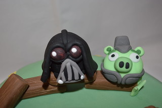 Angry Birds Star Wars Darth Vader cake topper figure decoration