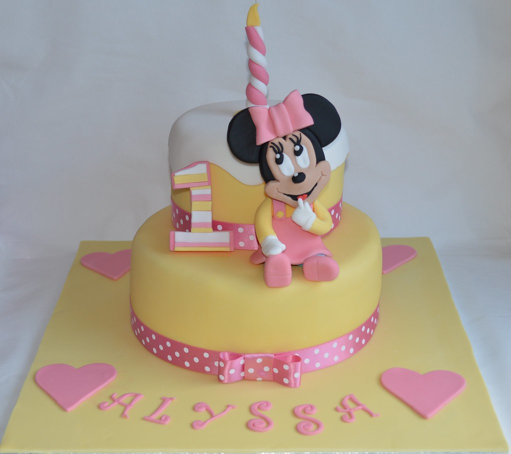Baby Minnie Mouse Disney Cake 1st Birthday Topper Decoration