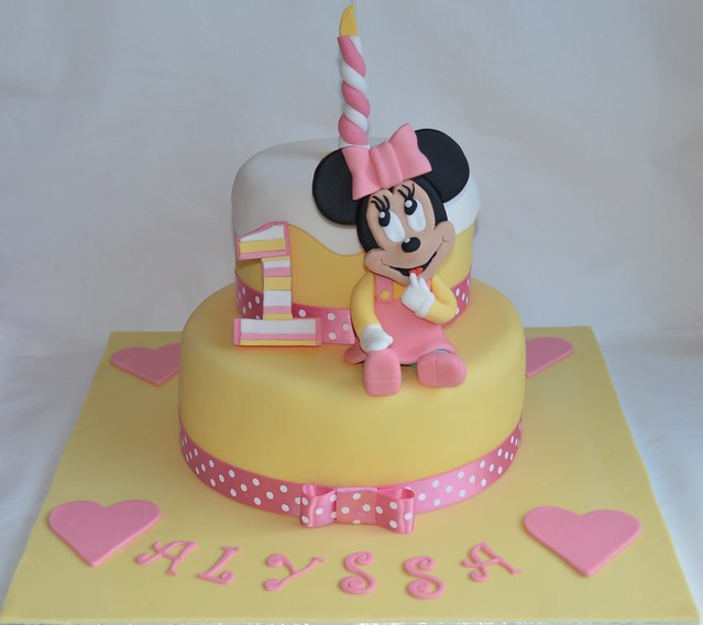 Cake Toppers For Baby Birthday : Baby Minnie Mouse Disney cake 1st Birthday Cake topper ...