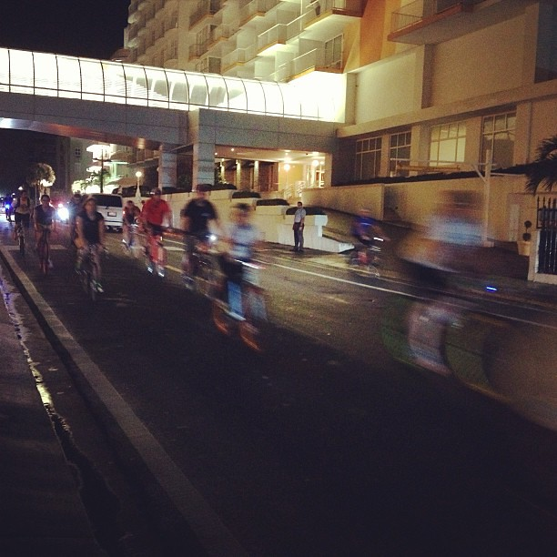 We were passes by what must have been a critical mass ride in San Juan tonight. So many bikes, so much energy and fun. Wish we could have been a part of it. #bikes #sanjuan