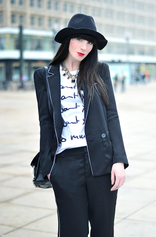 Black Zara Outfit with Saint Noir Shirt 2