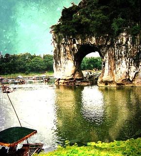 China - Guilin - Der Elefantenrüsselberg , herrliche Landschaft , 63-59/1976