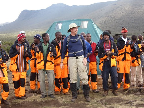 Thomson Safaris Kilimanjaro Porters in all-weather uniforms