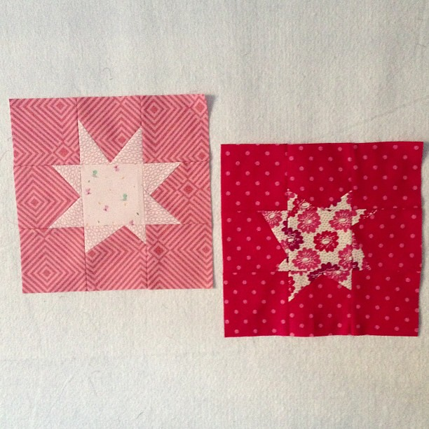 Got a couple wonky pink stars made too. Productive day.