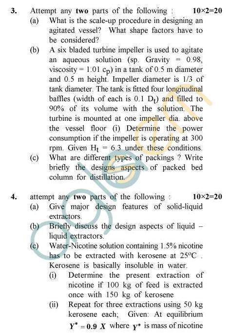 UPTU B.Tech Question Papers -AL-804 - Process Equipment Design