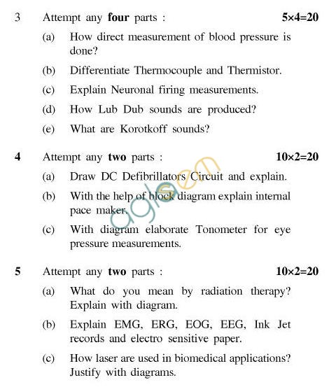UPTU B.Tech Question Papers -EC-021-Bio-Medical Instrumentation