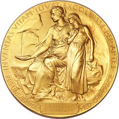 Crick Nobel medal reverse