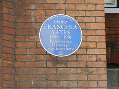 Photo of Frances A. Yates blue plaque