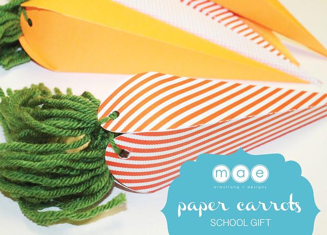 Paper Carrots - School Gift10