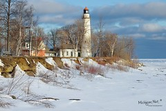 Pointe Aux Barques Lighthouse ~ Port Hope, Michigan. by Michigan Nut