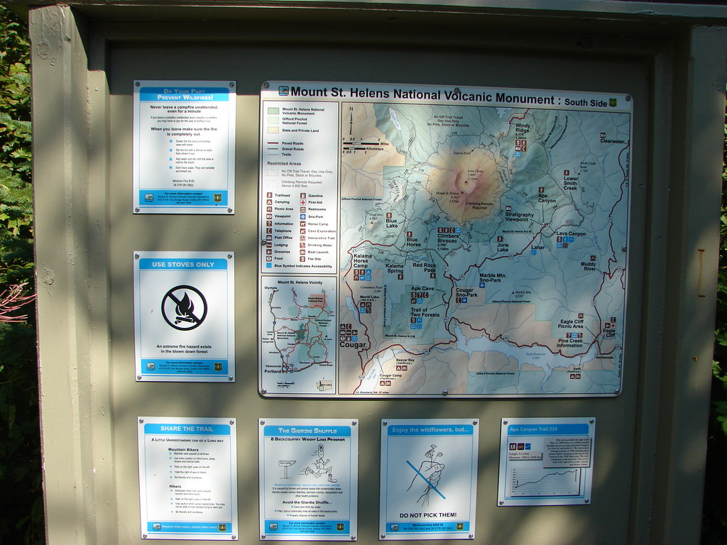 Trail map near Lava Canyon