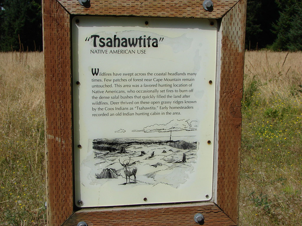 Interpretive sign on Cape Mountain