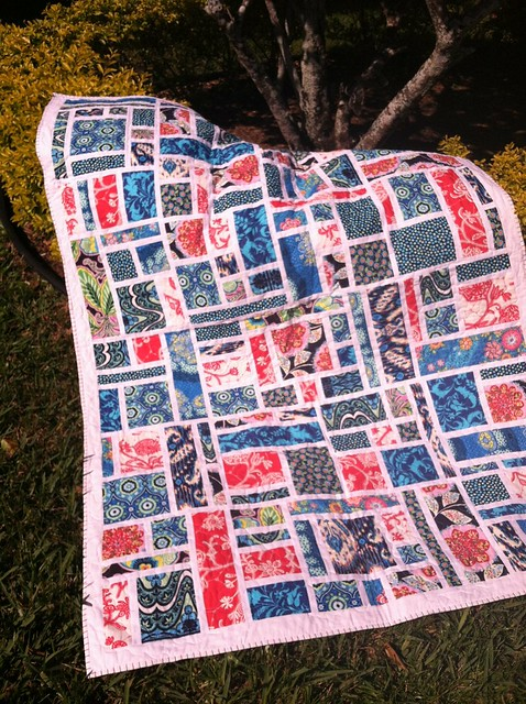 My finished stained quilt along quilt.