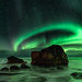 Aurora Borealis, Uttakleiv, Norway by inAgitation