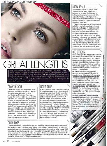 Joel Schlessinger MD reveals how to fix thin or sparse brows in Elle magazine