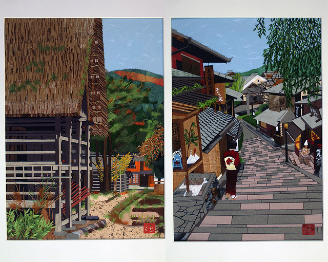 Harie paper collage exhibit by artist Junko Yamada. Photos by Becket Logan.