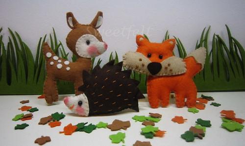 ♥♥♥ Bichos da floresta... by sweetfelt \ ideias em feltro