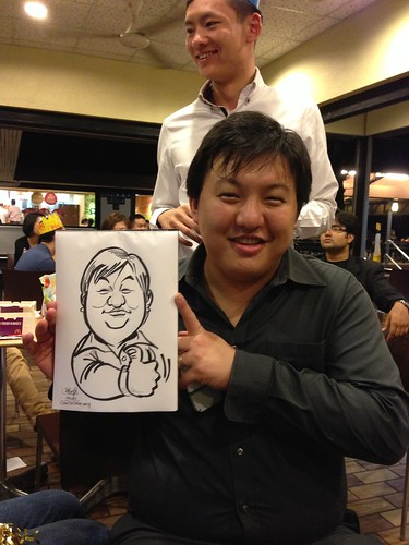 caricature live sketching for birthday party - 5