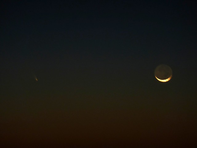 Moon and Comet