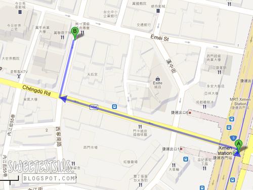Taiwan trip may 2012 day 1 ximending and shi da ye for Design ximen hotel ximending