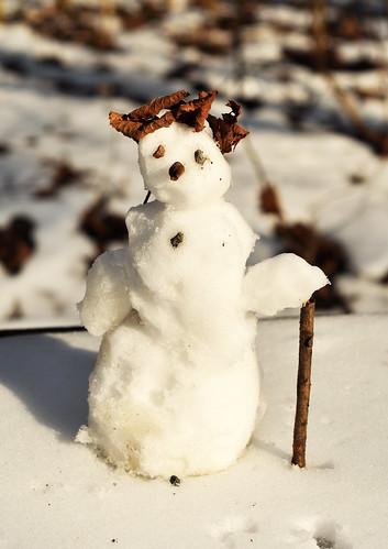 Wir bauen einen kleinen Schneemann