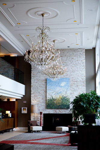 The lobby of The Westin Governor Morris