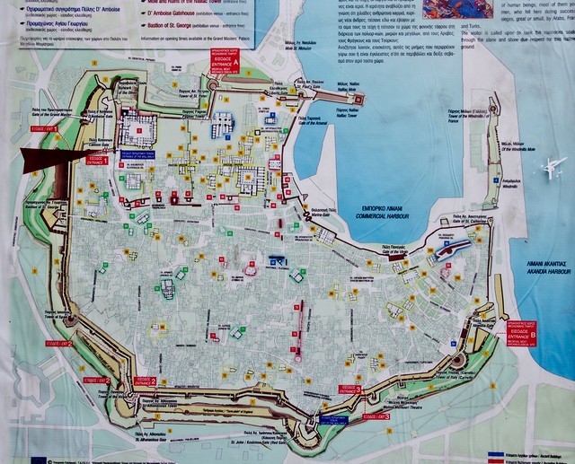 City map of Ancient Walled city of Rhodes, Greece | Flickr - Photo ...