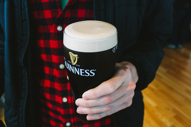 Guinness at the Gravity Bar on St. Patrick's Day